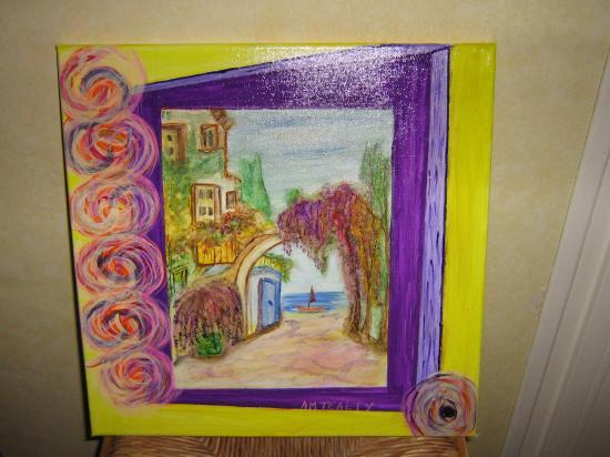 la mer en violet