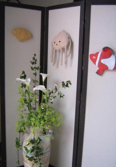 le bouquet  et les poissons