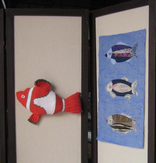 les poissons délisabeth et le némo de maria