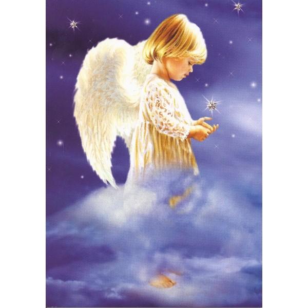 Carte ange dans les etoiles