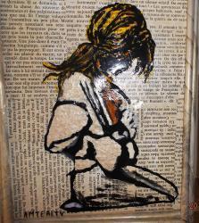 La fille sur livre