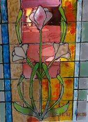 Vitrail fleurs 3